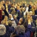 Bild einer Gemeindeversammlung