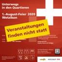 1.-August-Feier 2020 in Wetzikon findet nicht statt