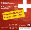 Bild Absage 1. August-Feier