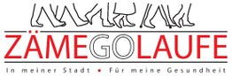 Logo zäme go Laufe